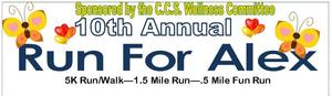 10th Annual Run For Alex! - Click on Run For Alex for Registration