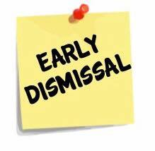 Early Dismissal - February 16, 2018 @ 10:50 a.m.