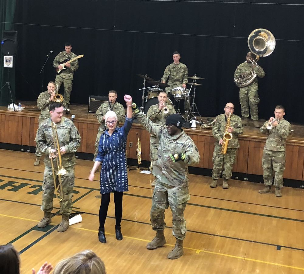10th Mountain Division Brass Band Visits CCS