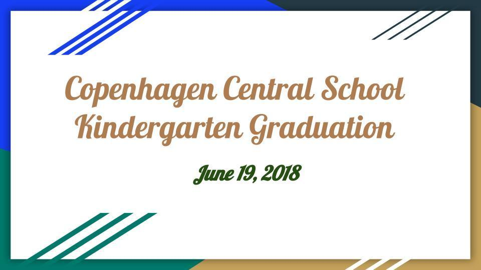 Kindergarten Graduation - Live Stream