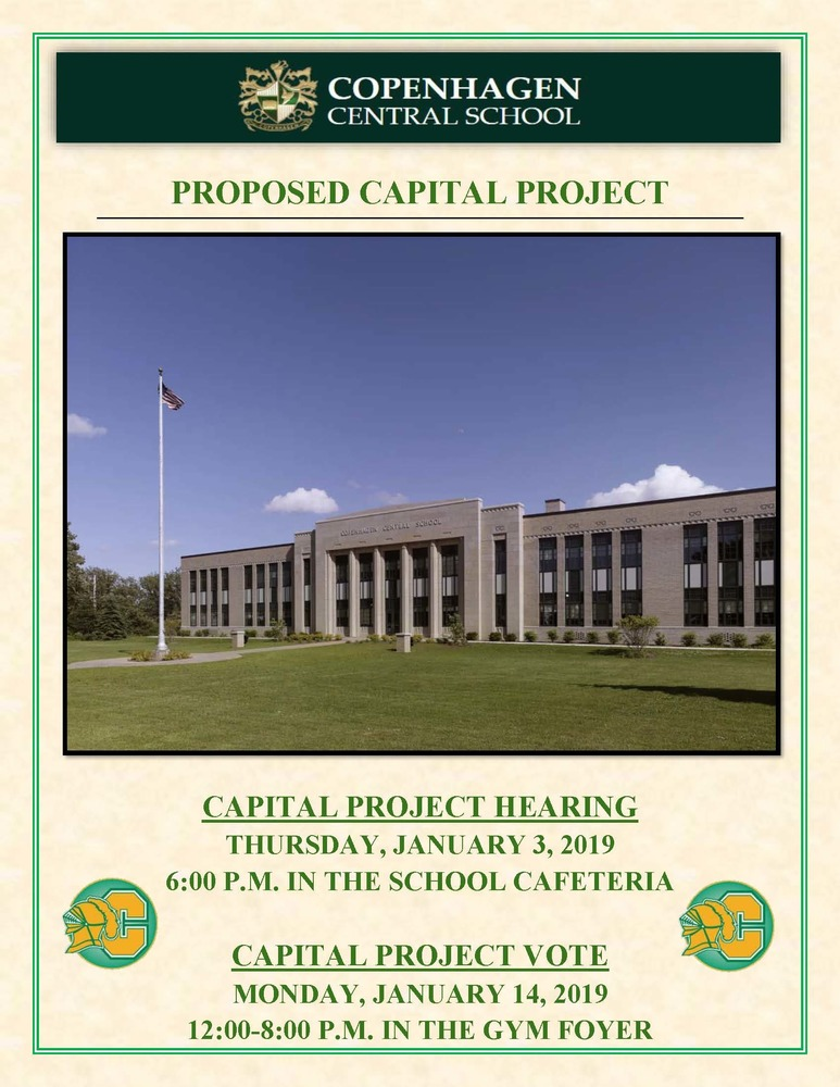 PROPOSED CAPITAL PROJECT INFORMATION