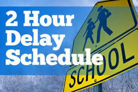Two-Hour Delay Schedule for November 1, 2019