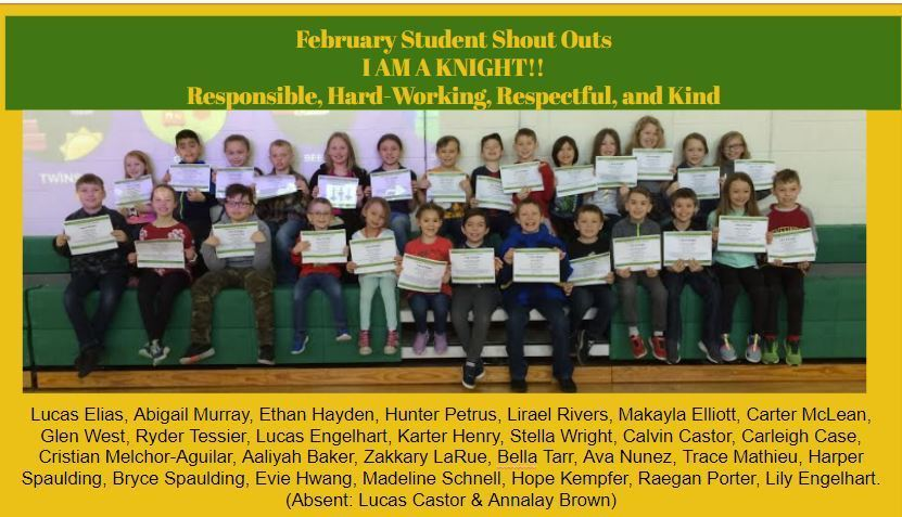 February Positive Behavior Award Winners!