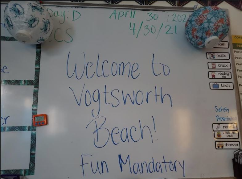Miss Ellingsworth's Class had a beach day!