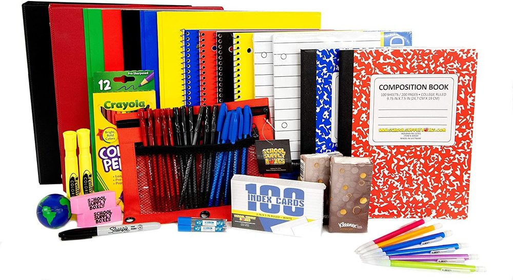 Grades 9-12 School Supplies
