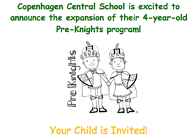 Full Day Pre-Knights Program Coming Soon!