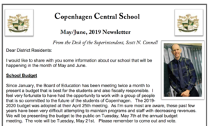 May/June Newsletter