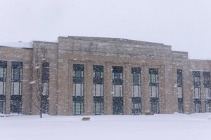 A few blizzard pictures at school!