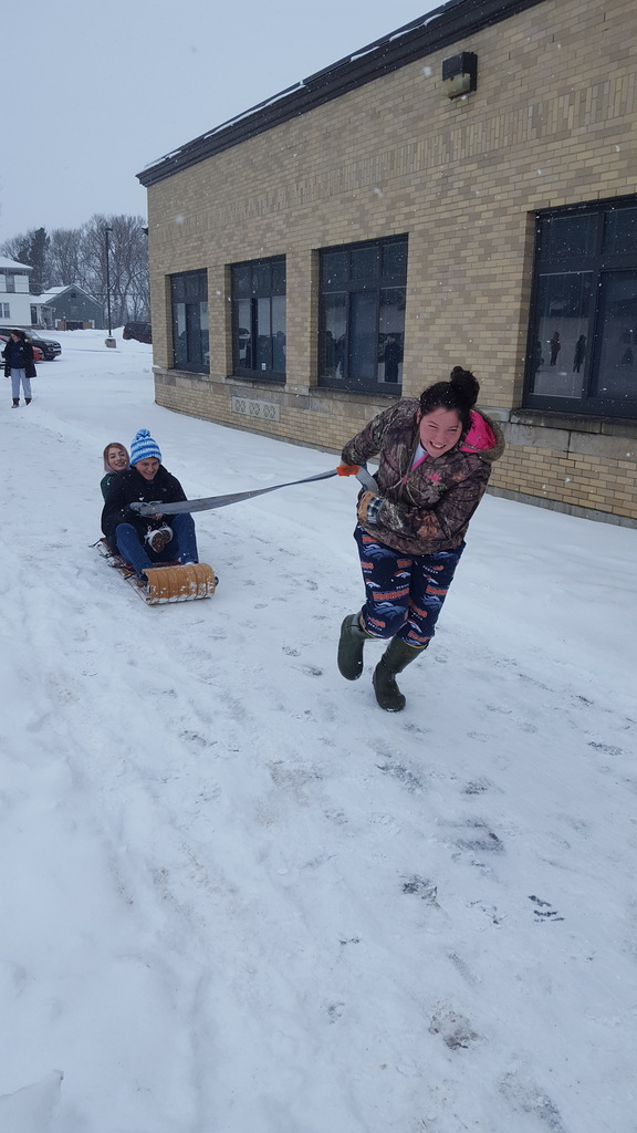 Force of pulling a sled
