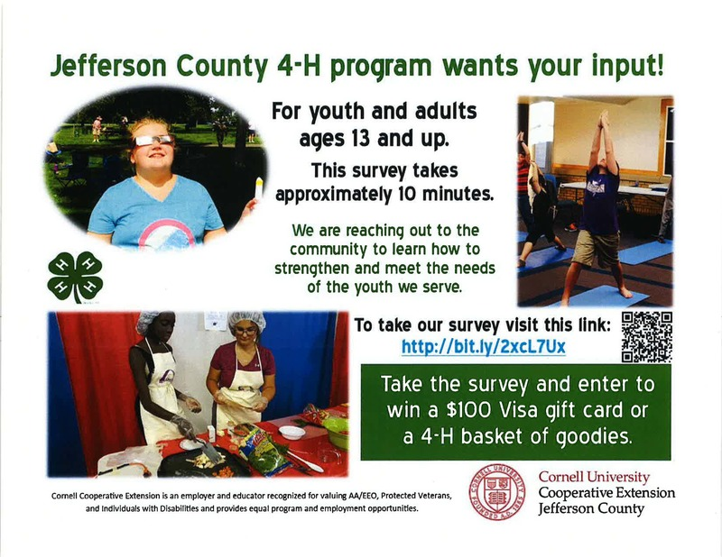 Jefferson County 4-H wants your input!